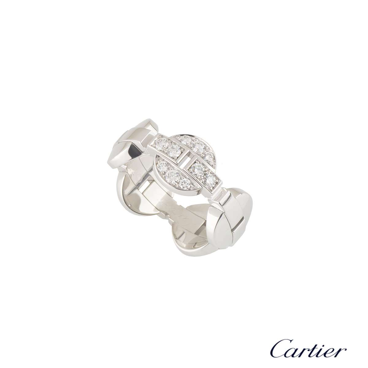 Cartier White Gold Diamond Himalia Ring N4193253